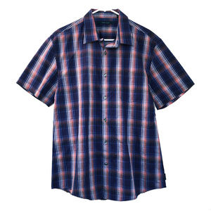 Perry Ellis Men's Plaid Button Up Shirt Size Large